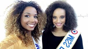 Vanylle Emasse aux côtés de Miss France 2017 et Miss Comores 2016.